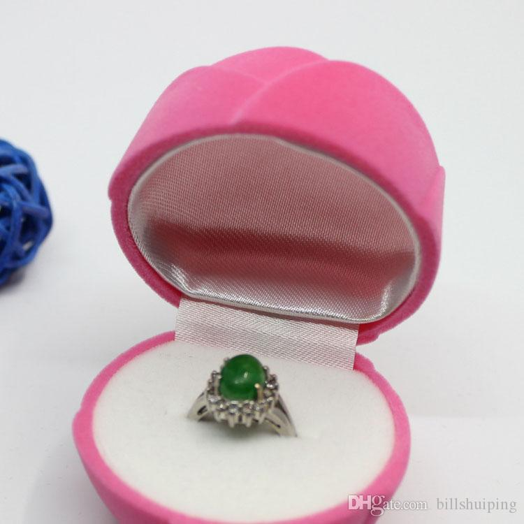 Luxury Rose Velvet Jewelry Boxes Organizer Ring Earrings Stud Storage Case Holder Container Birthday Xmas Gift Packaging Box