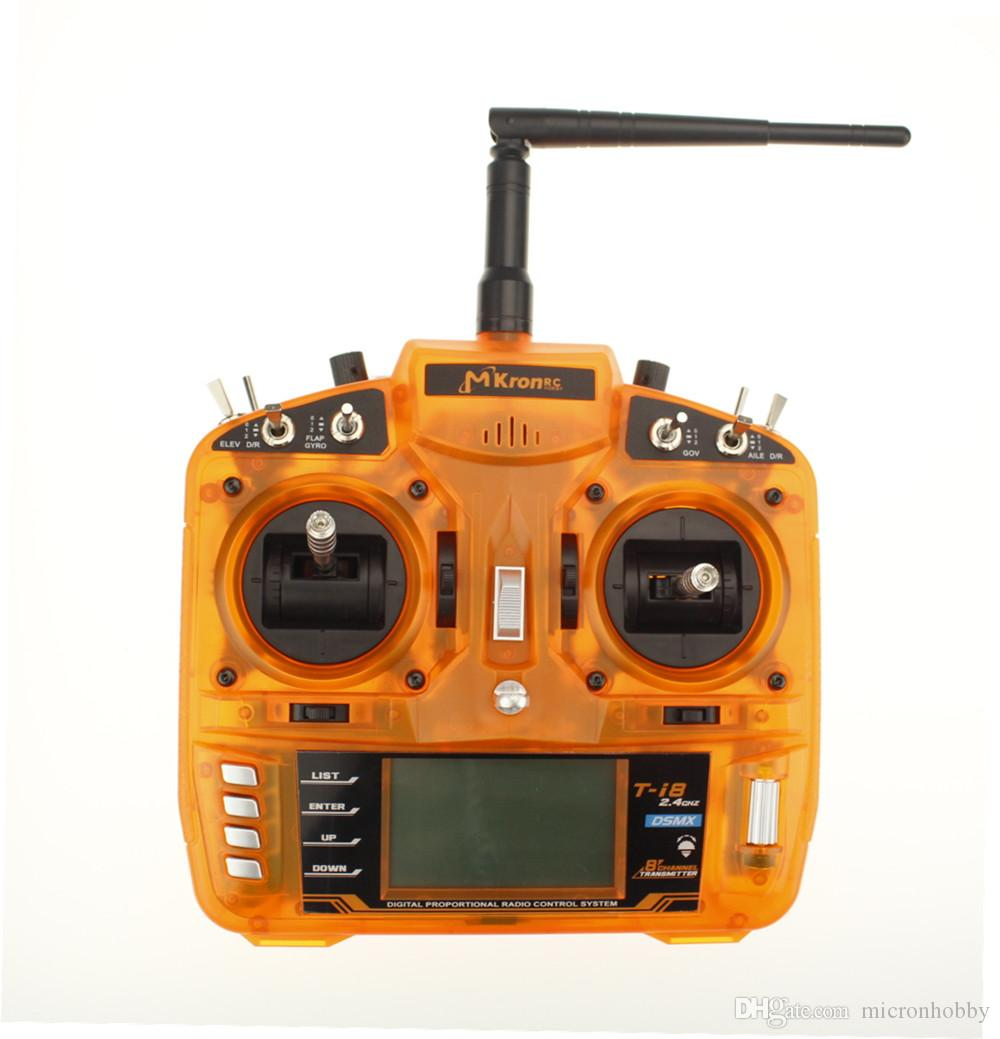Mkron T I8 Rc Full Range 24ghz Dsmx 8 Channel Transmitter With 4ch Remote Control Circuit Board Pcb Receives Antenna Toys Mk810 Receiver Fit Uavhelicopterairplanequadcopter Dx8 Radio Ar8000