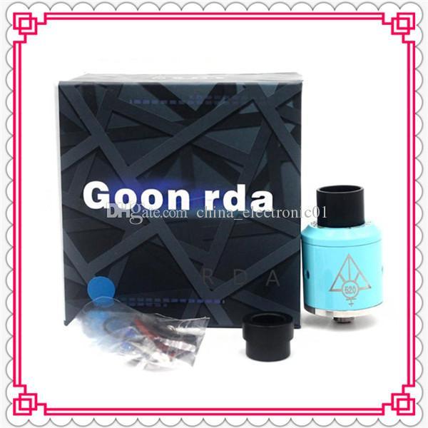 Newest Goon RDA Clone 521 Custom Vape Rebuidable Dripping Atomizer Big Chuff Enuff Drip Tip Peek Insulators DHL Free
