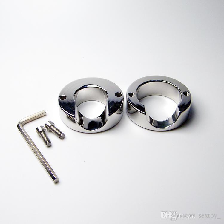 Anello in acciaio inox Peso Scroto Anello pene testicolo Dispositivo di ritenuta Prodotti sessuali adulti 620g Ball Barella 2015 NUOVO