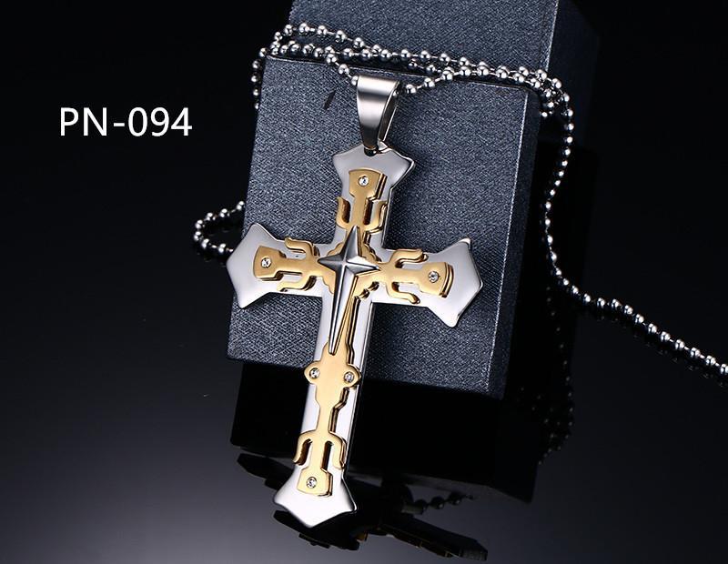 8 Tasarımlar Moda Erkekler takı hıristiyan çapraz kolye 316L paslanmaz çelik metal büyük çapraz Yüksek Quality8