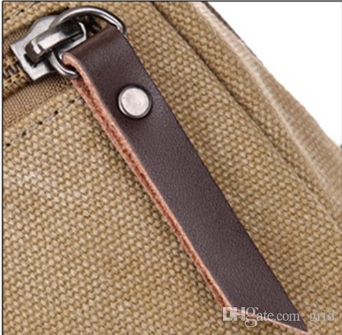 Borse Uomini piccolo scrigno di tela Uomo dell'annata Messenger Bags For Vita Cassa casual escursione esterno che Sport Casual Male Retro Borsa a tracolla