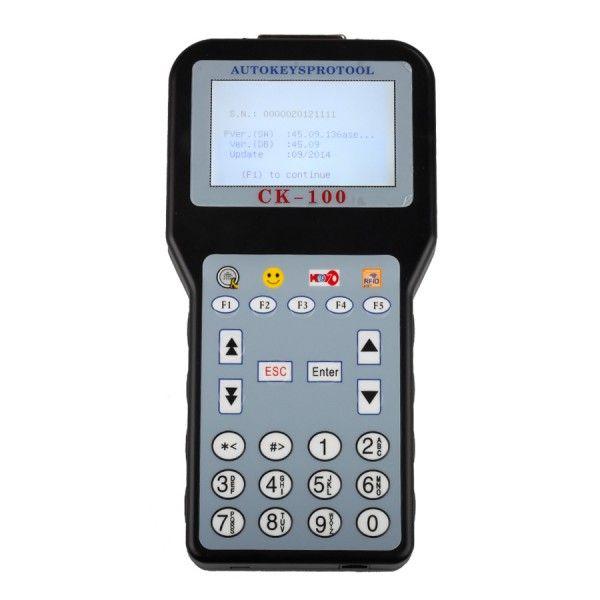 Última V45.09 CK100 CK100 programador dominante auto apoyo, hasta 2.014,09 calidad estupenda CK100 Máquina llave del coche del envío