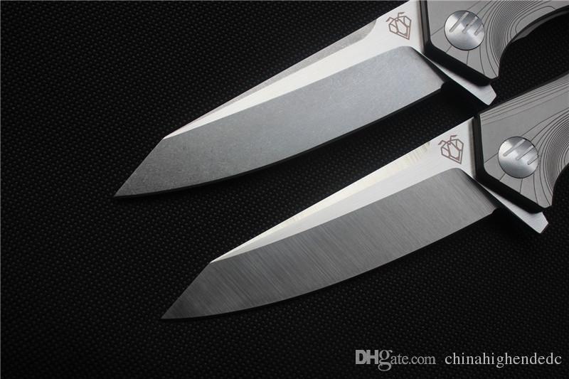 Freies Verschiffen, Qualitäts-VESPA Messer, Blatt: 100% S35VN Steinwäsche / Satin, Griff: TC4 flaches im Freien kampierendes Klappmesser EDC