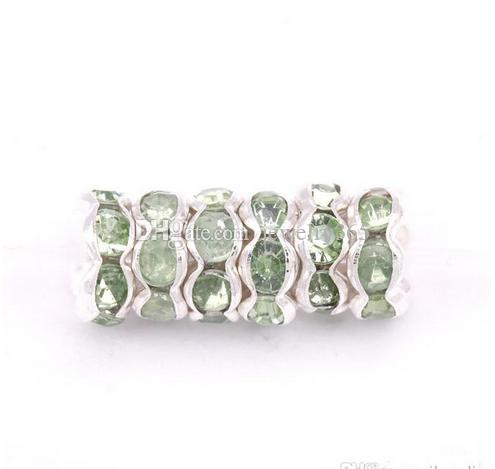 Rhinestone Plated Crystal Big Hole Spacer Beads Jelwery Findings For Jewelry Making Bracelets 8mm