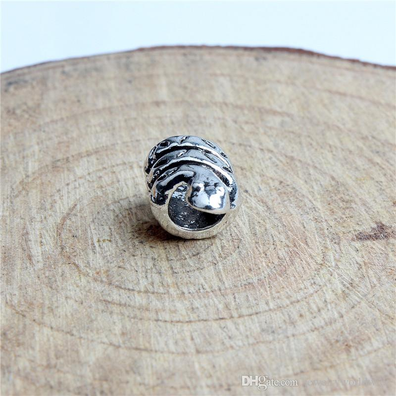 Replacement Alloy Charm Bead Snake Long Life Big Hole Fashion Women Jewelry European Style For DIY Bracelet Necklace