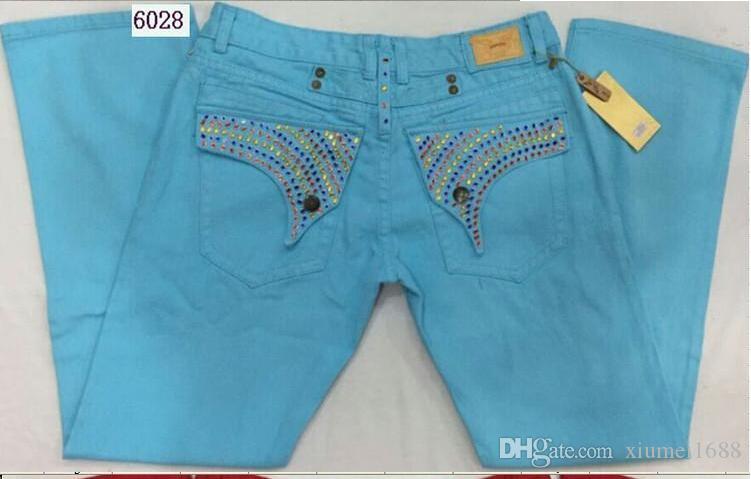 Jeans da uomo di design jeans da uomo nuovo arrivo Robin Jeans Denim con ali perline di perline Jeans bandiera americana Taglie forti