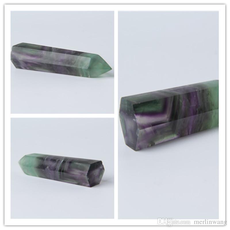 HJT 33g sıcak satmak Yeni kristal nokta doğal florit rüya kuvars NOKTALı ŞİFRE kristal kuvars değneklerini satmak için