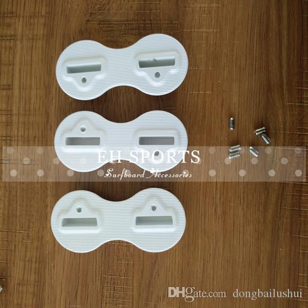 factory price low cost surfboard white color plastic design fusion plug without the foam side fin plugs