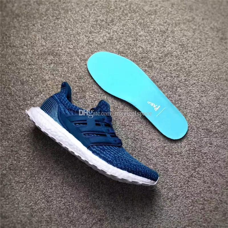 buy popular 1edd8 29a2e 2017 Parley x Running Ultra Boost 3.0 BB4762 Jiont Limited Shoes Мужчины,  работающие в кроссовках Bule Sports Shoes Real ...