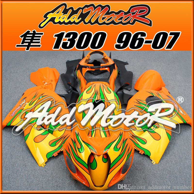 Best Selling Fairings Addmotor Injection Mold Plastic For Suzuki GSXR1300 Hayabusa 96-07 Orange Green Yellow S3648 +5 Free Gifts Best Chioce