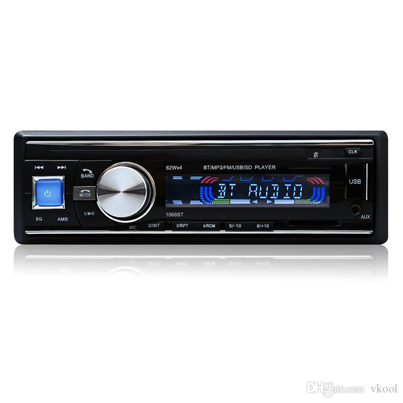 Car Radio Stereo Player Bluetooth Phone AUX-IN MP3 FM/USB/1 Din/Remote Control Iphone 12V Car Audio Car Electronics