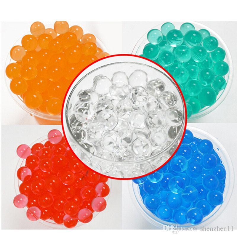 Perle En Forme De Cristal De Cristal De Polymère Eau Perles Boue Cultiver Magique Gelée Gel Balles Home Decor Aqua Sol OTH059