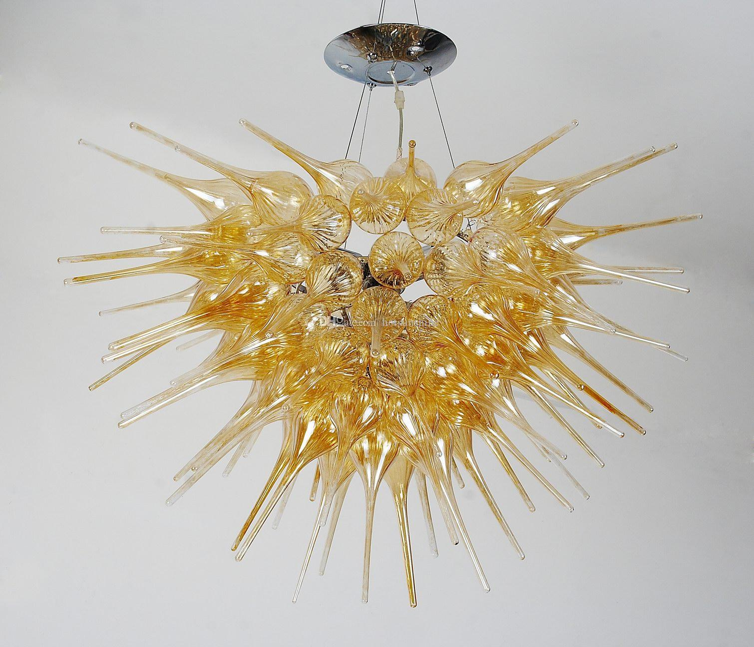 Home Decoration Cheap Crystals For Chandeliers Petunia Design Medium Size Art Murano Christmas Lights
