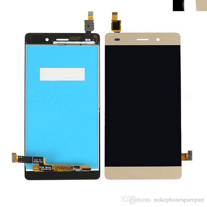 """5.0"""" For Huawei Ascend P8 Lite LCD Display+Touch Glass Digitizer Frame Assembly black and white and gold"""