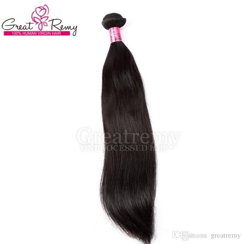 100% chinesische Haarverlängerung / Remy menschliche Haarverlängerungen seidige gerade Greatremy Drop Shipping Natürliche Farbe Königin Haar Produkte