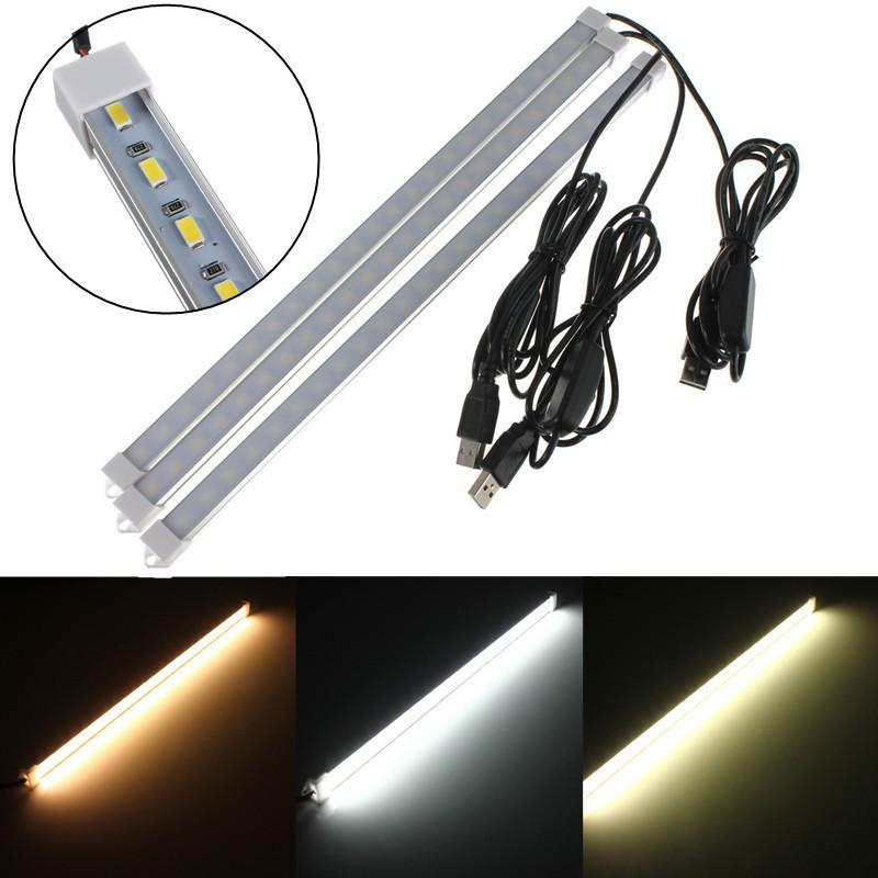 DC5V USB 24 SMD 5630 Imperméable LED rigide Strip Hard Bar lampe tube tube avec U coque en aluminium + pc