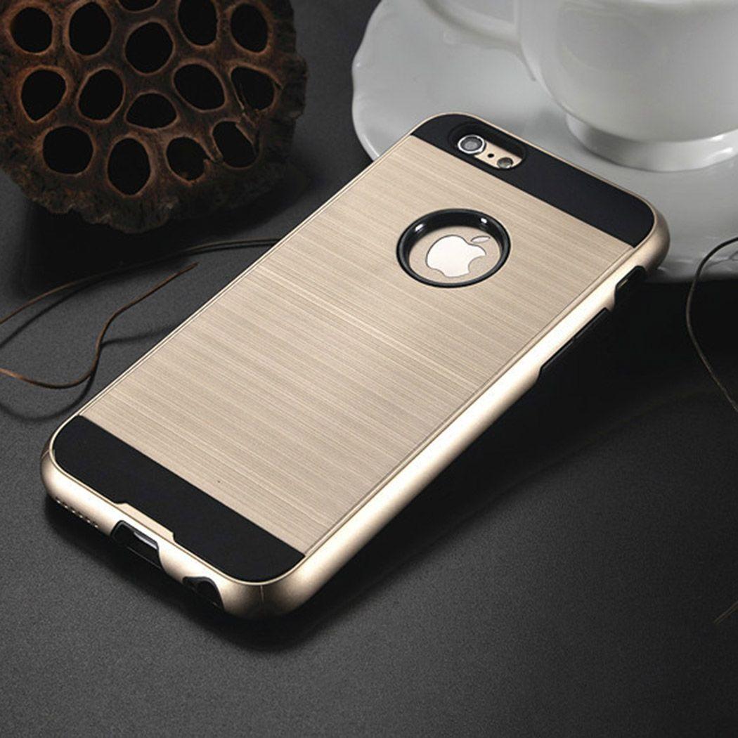 For iPhone X 8 Plus 7 Plus 6 5SE Good Quality Defender Hybrid Brushed Metal Lars Armor Polish Cases Opp Bag