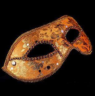 20 pz mezza maschera di Halloween Masquerade mask maschio, Venezia, Italia, a testa pizzo luminoso maschere di stoffa