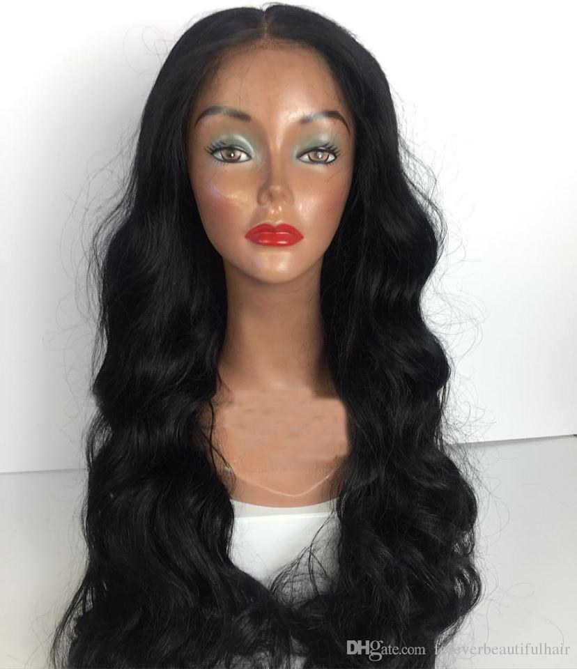 4 Styles de Cheveux Humains Dentelle Perruque 8-26 pouces Brésilienne Vierge Remy Perruque de Cheveux Humains Droite Profonde Bouclés Corps Vague Lâche Vague Perruques Pour Femme Noire