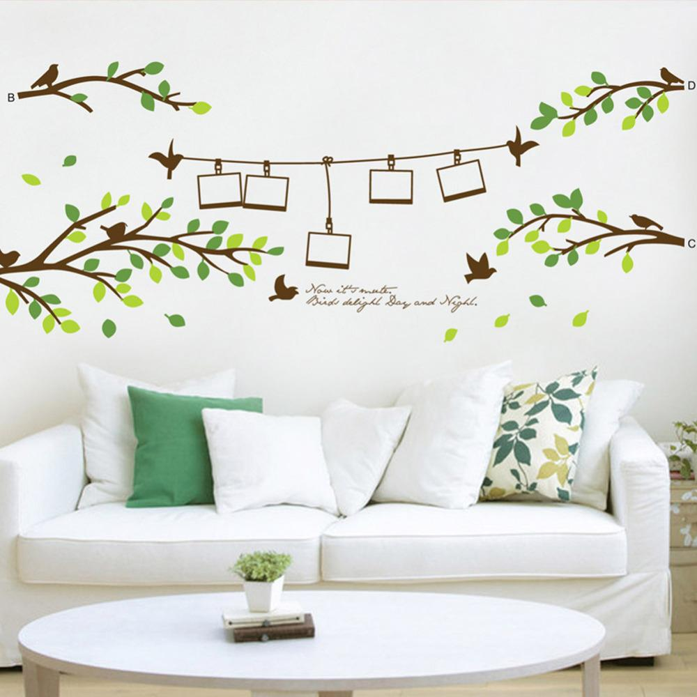 Hot selling 20080cm photo frame tree birds 3d wall decals hot selling 20080cm photo frame tree birds 3d wall decals stickers 830 home decorations living room wall arts poster nursery decals nursery room wall amipublicfo Image collections