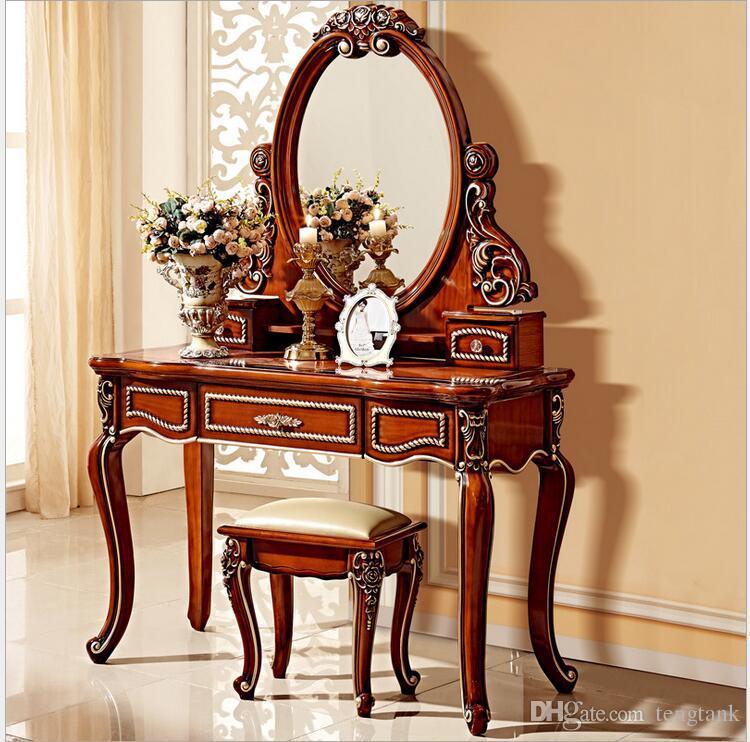 Großhandel Europäische Spiegel Tisch Antik Schlafzimmer Kommode ...