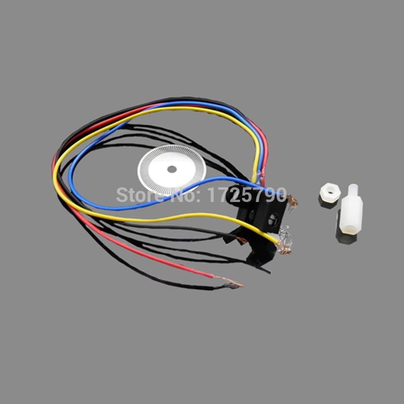 Wholesale- Free Shipping Photoelectric Speed Sensor Encoder Coded Disc code  wheel for Freescale Smart car