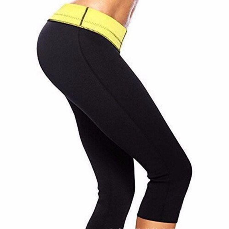 eefa3a4bb38 2019 Black Super Stretch Women Hot Shapers Slim Control Pants Sweat Sauna  Neoprene Slimming Body Shaper S XXXL Plus Size From Jackhu07