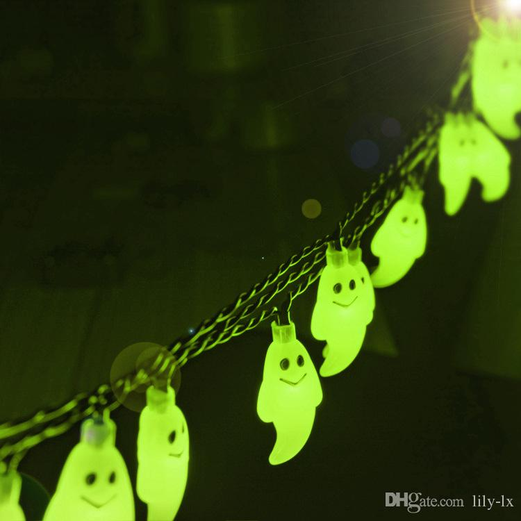 Solar LED ghost light string for Halloween outdoor led christmas decoration lights waterproof 6m 30leds bulbs