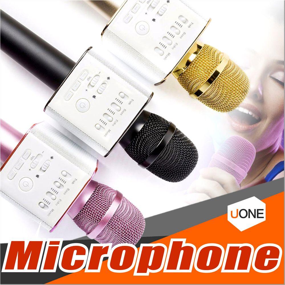q9 bluetooth wireless microphone portable handheld wireless ktv karaoke player dual horns. Black Bedroom Furniture Sets. Home Design Ideas