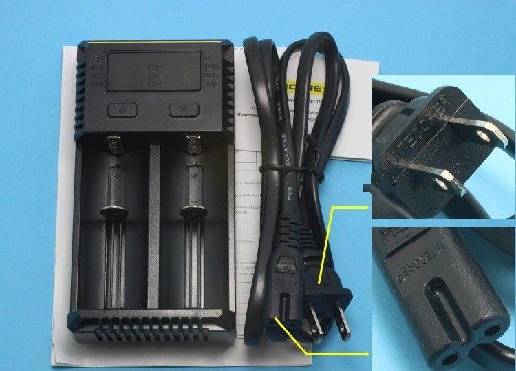 Véritable Nitecore I2 Chargeur universel pour 16340 18650 14500 26650 Batterie E Cig 2 en 1 Muliti Fonction Intellicharger navire libre rechargeable