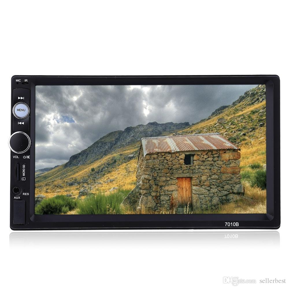 Autoradio 7010B 2 Din 7 '' Écran tactile HD Radio stéréo Bluetooth FM / MP3 / MP4 / Audio / Vidéo / USB Électronique automatique dans le lecteur Dash MP5