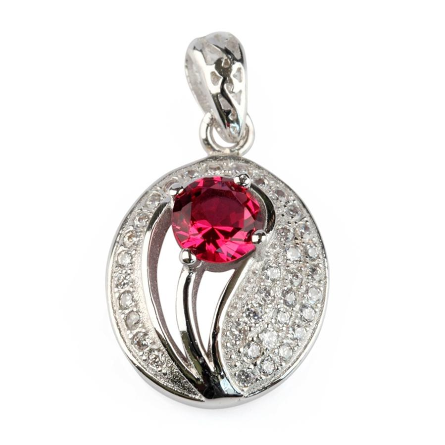 Copper Rhodium Plated Charm Pendants Red Cubic Zirconia Noble Generous MN3110 Rave reviews Explosion models Promotion Treasurer recommended