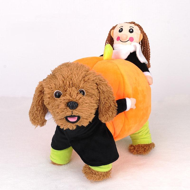 2018 kimhome pet dog halloween costume carry pumpkin dog clothes for small dogs winter coat for medium dogs cosplay pet clothes from mercedes1991