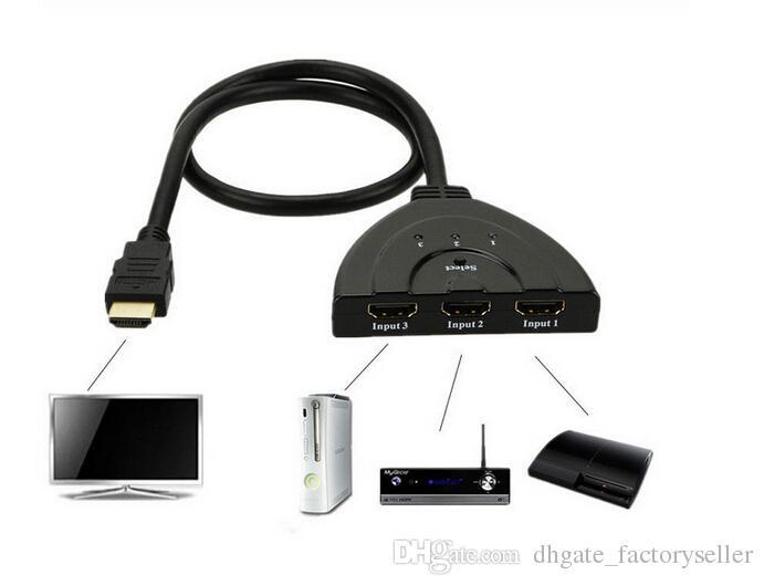 HDMI Splitter HDMI 3 in 1 Adapter HDMI 1080 P Auto Schalter Extender Switcher Splitter Hub Mit Kabel