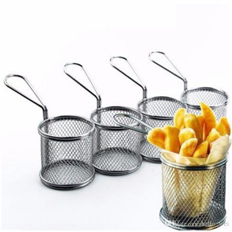 2018 Kitchen Stainless Steel French Fries Net Fry Fryer Basket Small Round Mini Cooking Tools New From O Wei 11 05 Dhgate Com