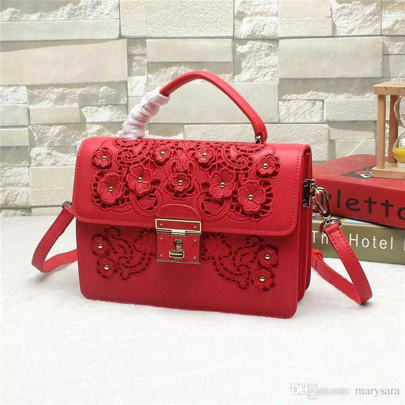 Women bags new 2016 Handbags italy brand genuine leather cowhide handmade applique embroidery tote cross Body Bags satchel Shoulder bags