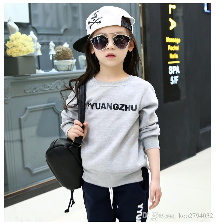 2016 Sonbahar Bebek Kız Giysileri Ceket Çiçek Çocuk Hoodies + Pantolon Çocuklar Kızlar Için Çocuk Eşofman Giyim Setleri Kızlar Spor Suit 291