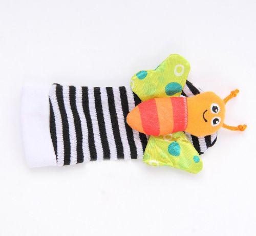 New Garden Bug Handgelenk Rassel Fuß Set Fuß Finder Lamaze High Contrast Fuß Finder Baby Spielzeug