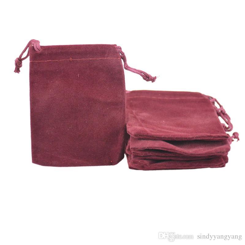 الحقائب والمجوهرات المخملية الرباط الحقائب والمجوهرات الحقيبة صالح للقلادة سوار القرط هدية حزمة 7x9 سنتيمتر 2.7 '' x 3.5 ''