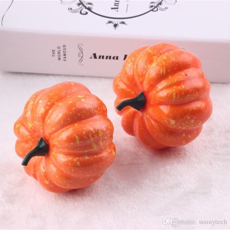 Lifelike Artificial Foam Orange Mini Halloween Pumpkin Wedding Party Festival Home Decoration Supplies WA1261
