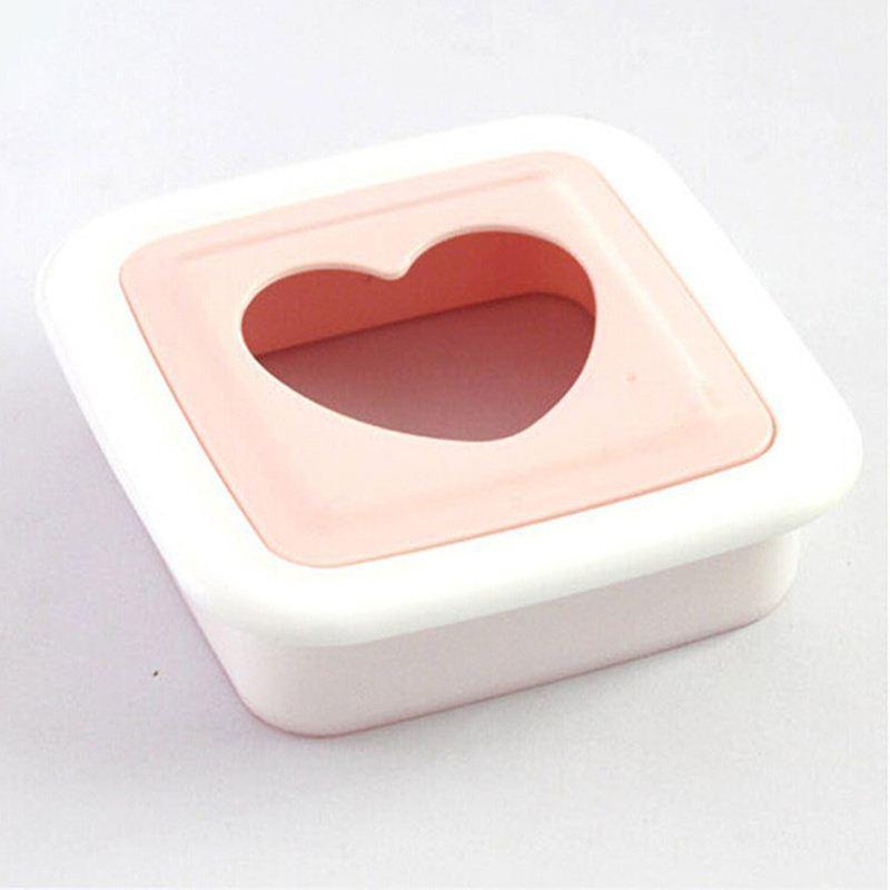 Moda PP Rosa Bonito Forma de Coração Sanduíche Criador Cortador De Pão Ferramentas De Cozinha DIY Amor Sandwich Mould ordem $ 18no faixa