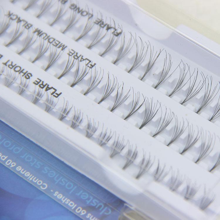 New False Eyelashes Natural Individual Lashes Extension Professional Makeup Fake Eyelash Flare Short / Medium / Long / Black 10mm 12mm 14mm