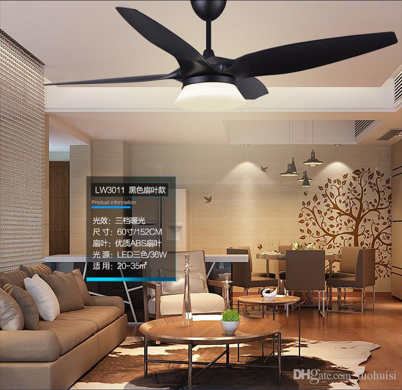 2019 American Vintage 52 Fan Light Ceiling Chandelier Fans Modern  Minimalist Living Room Dining Room Ceiling Chandelier Fan LED Lamp  Controller From ...