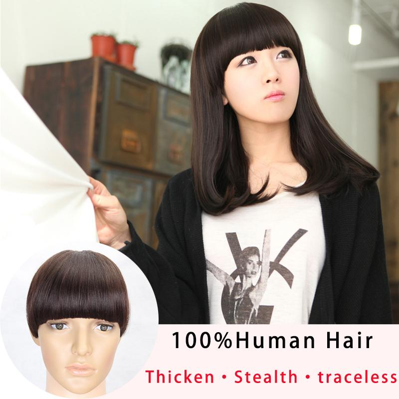 Thick Fake Hair Extension Hairpieces False Hair Piece Front Neat