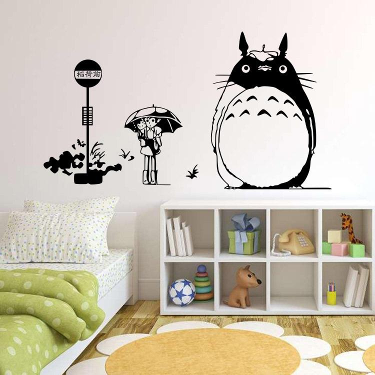 Wall Stickers My Neighbor Totoro Movie posters Removable Wall Decal Bedroom Living Room Decor cartoon wall sticker