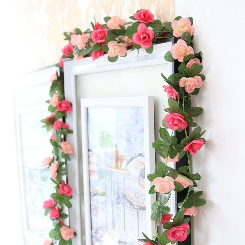 Artificial Silk Rose Flower Ivy Vine 8ft Fake Garland Wedding Party