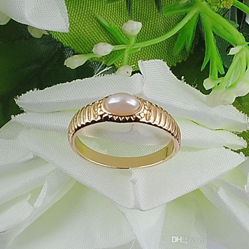 Anello in Perla di Ellipse delle nuove donne 100% Eco-compatibile in lega di zinco Materiale Bianco 1 pz / lotto Heavy Drop Shipping