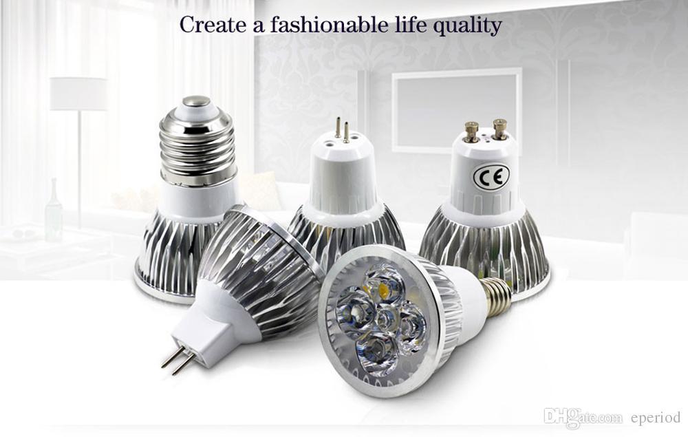 DHL Dimmable LED spot Bulbs GU10/MR16/E27/E14/B22 9W 12W 15W spotlight for home Energy Saving Lampada lamp