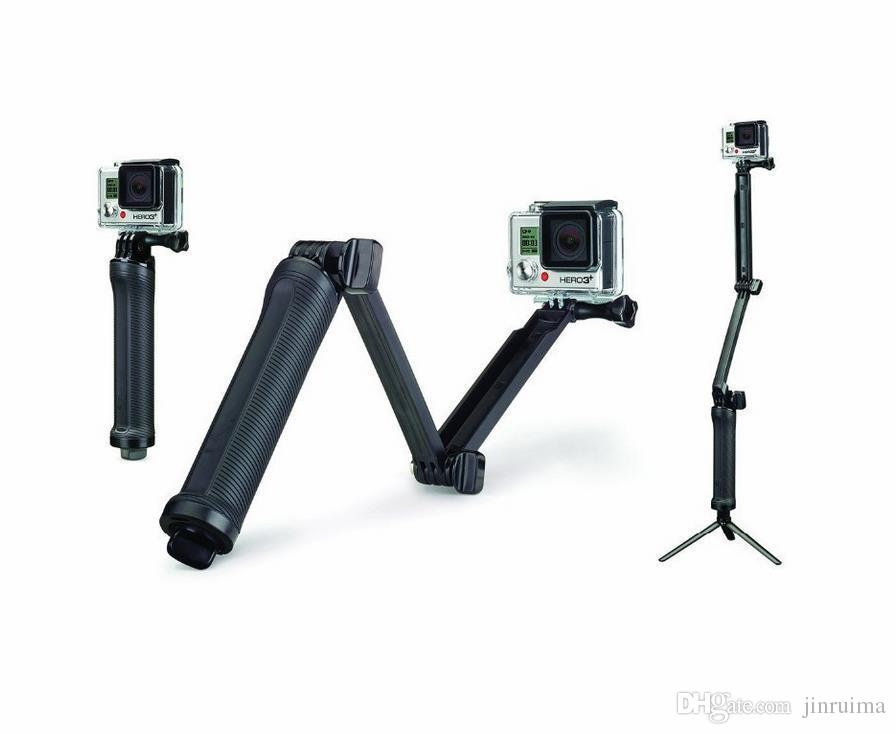 2017- Accessories Stick Monopod 3-way Multi-function Folding Arm Self-timer Lever Tripod Mounts for hero 4/3/3+/2 sj4000